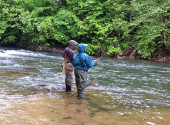 Trout Fishing Couple