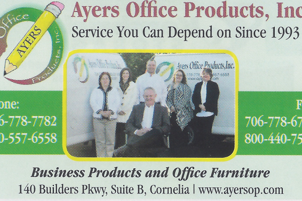 Ayers office Products white county